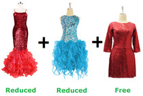 Buy 2 Sequin Fabric Dresses With Discounts On Each & Get 1 Short Sequin Fabric Dress Free (SPCL-076)