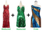 Buy 2 Handmade Sequin Dresses With Discounts On Each & Get 1 Short Sequin Fabric Dress Free (SPCL-082)