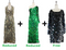 Buy 2 Handmade Sequin Gowns With Discounts On Each & Get 1 Short Handmade Sequin Dress Free (SPCL-084)