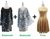 Buy 2 Handmade Sequin Short Dresses With Discounts On Each & Get 1 Short Handmade Sequin Dress Free (SPCL-085)