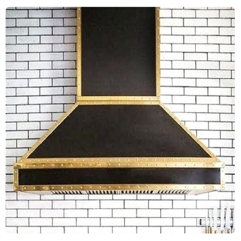 antique brass range hood