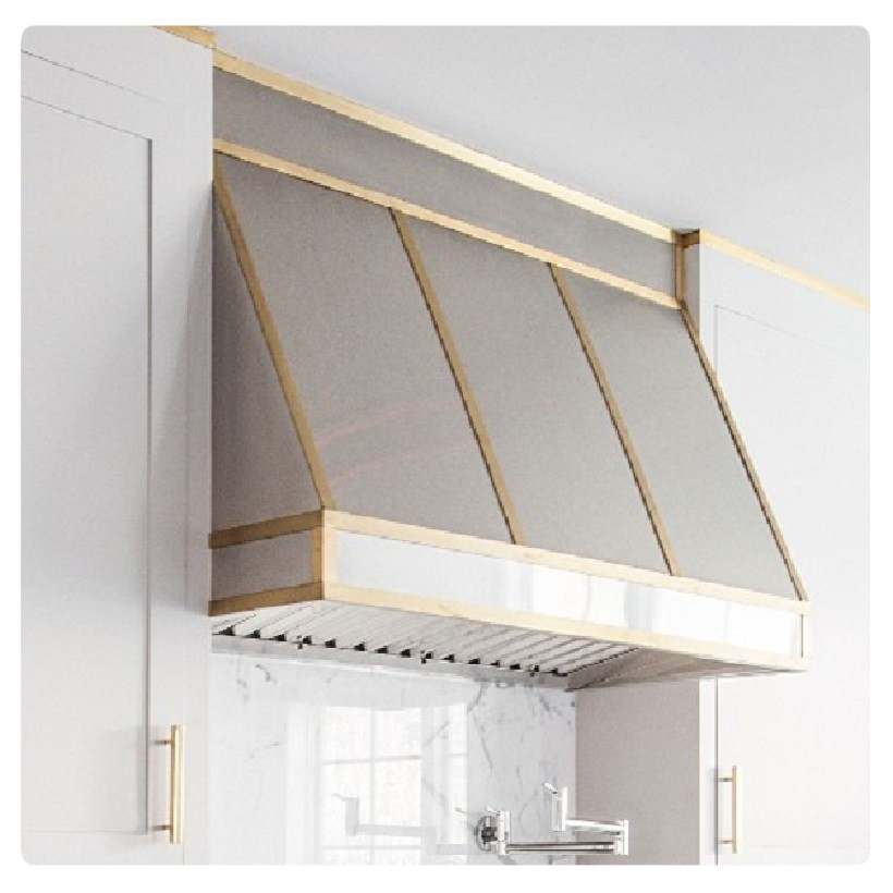 brass range hood covers