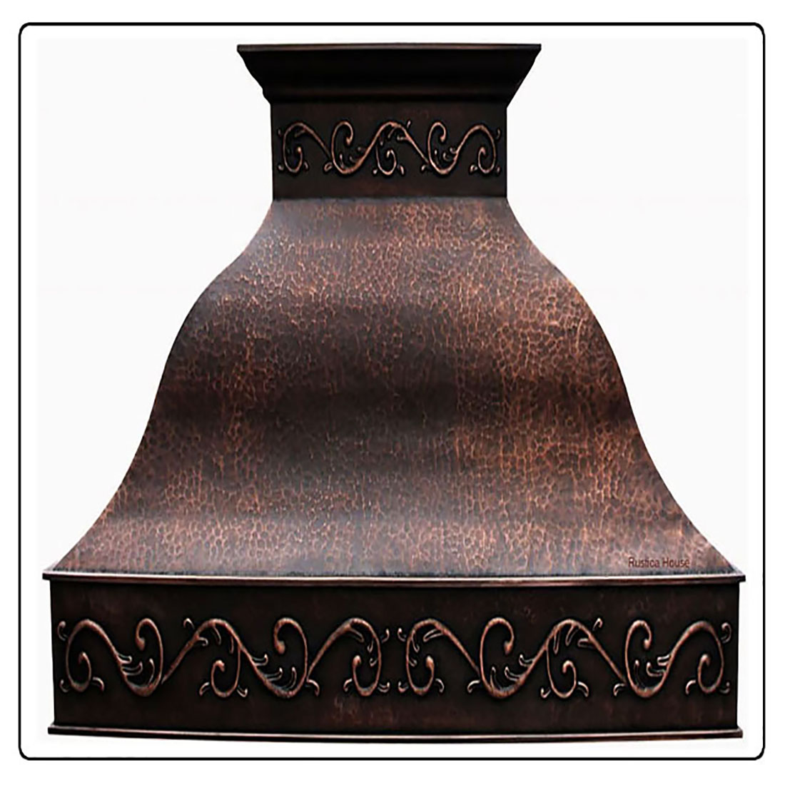 hammered copper range hood