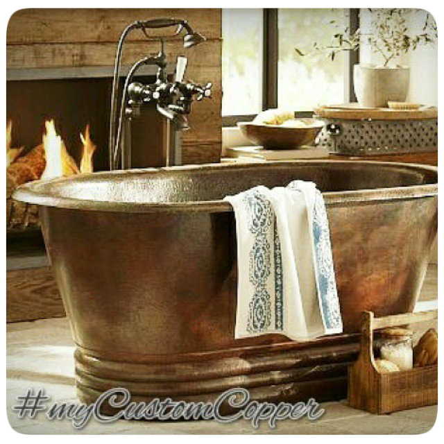 custom copper tubs