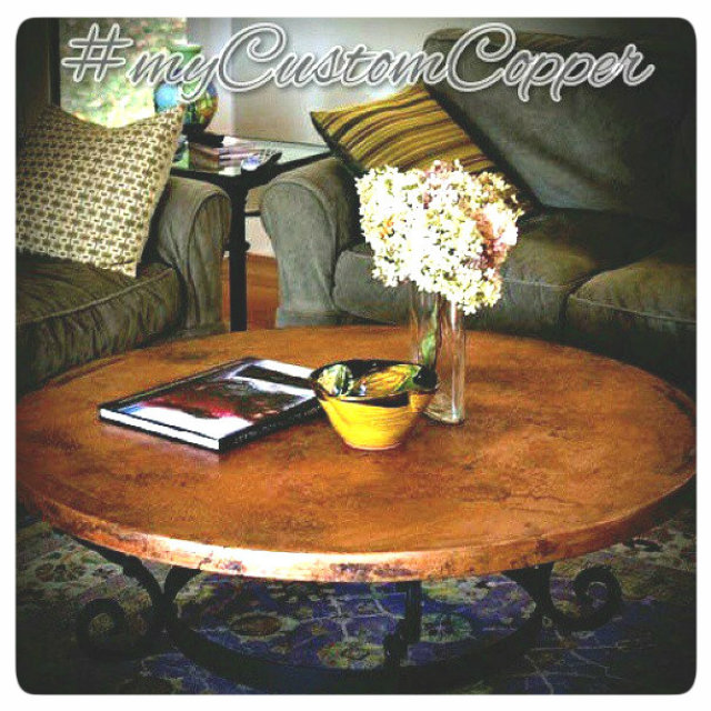 copper dining tables