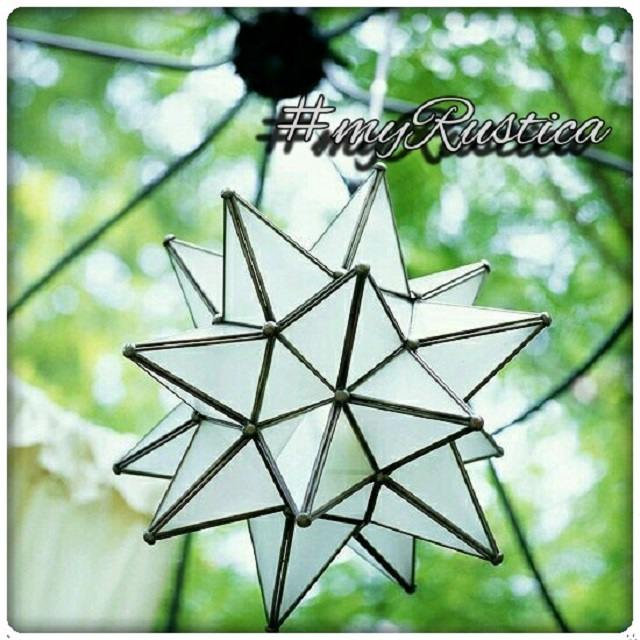 glass star lamps