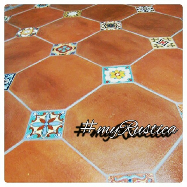 mexican accent tiles for floor and wall