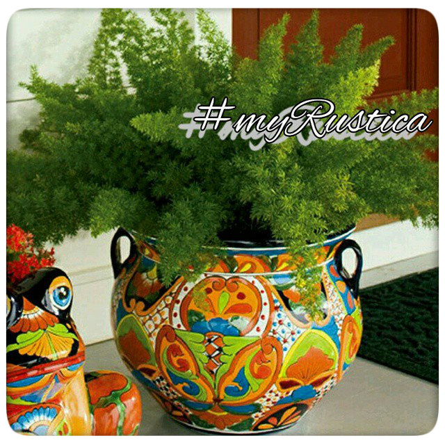 mexican talavera flower pots