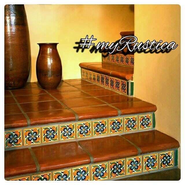 mexican tile patterns for stairs