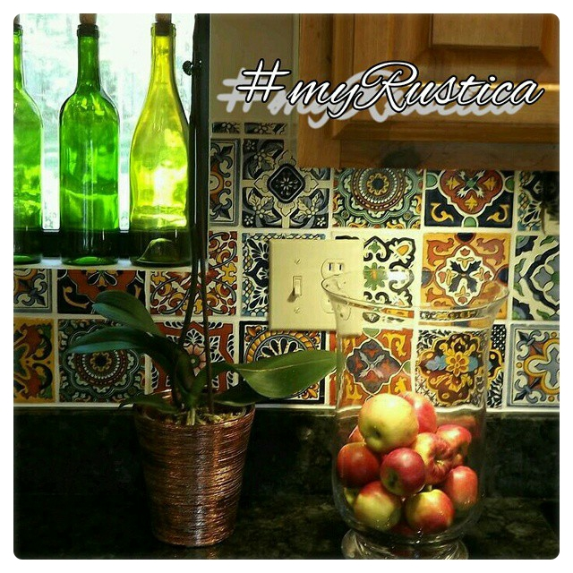 mexican tiles hand painted for kitchen backsplash, bathroom, wall, counter, and stair risers
