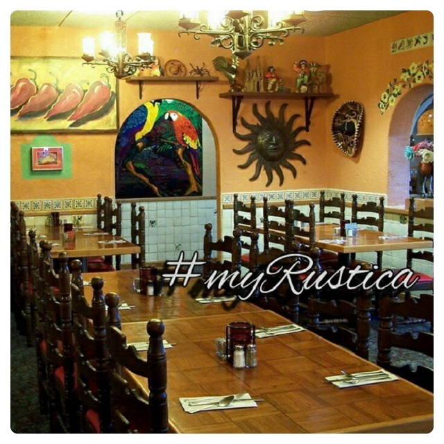 bar and restaurant rustic copper, zinc, wood furnishings, and fixtures
