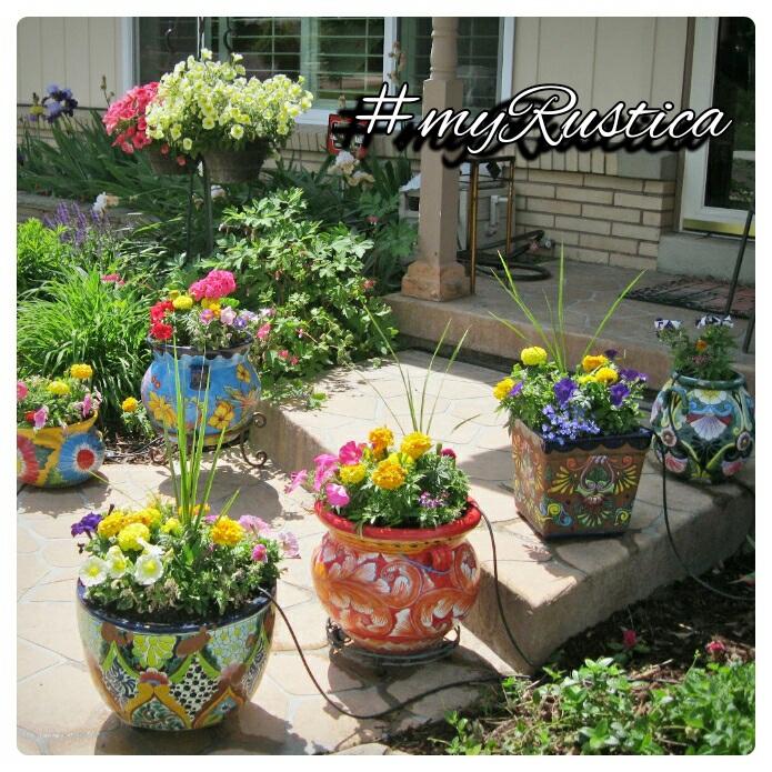 rustic garden, patio, veranda and yard