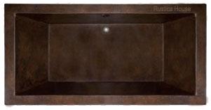 drop-in copper tub in a bathroom
