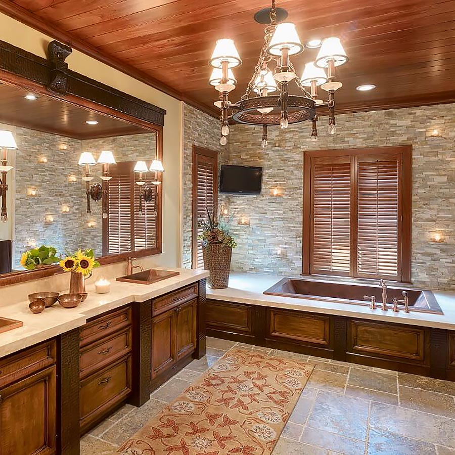 rustic copper bathtubs and sinks