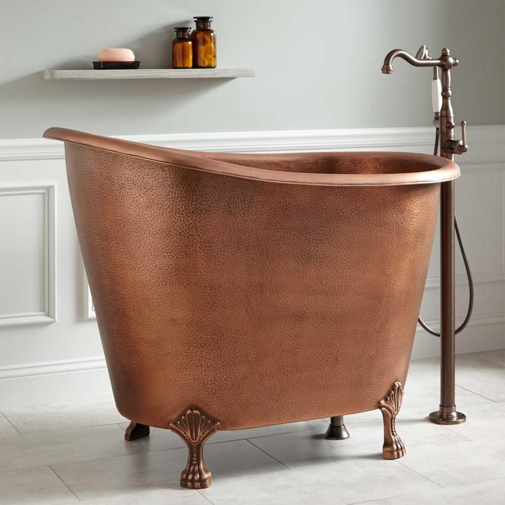 freestanding clawfoot copper bathtubs