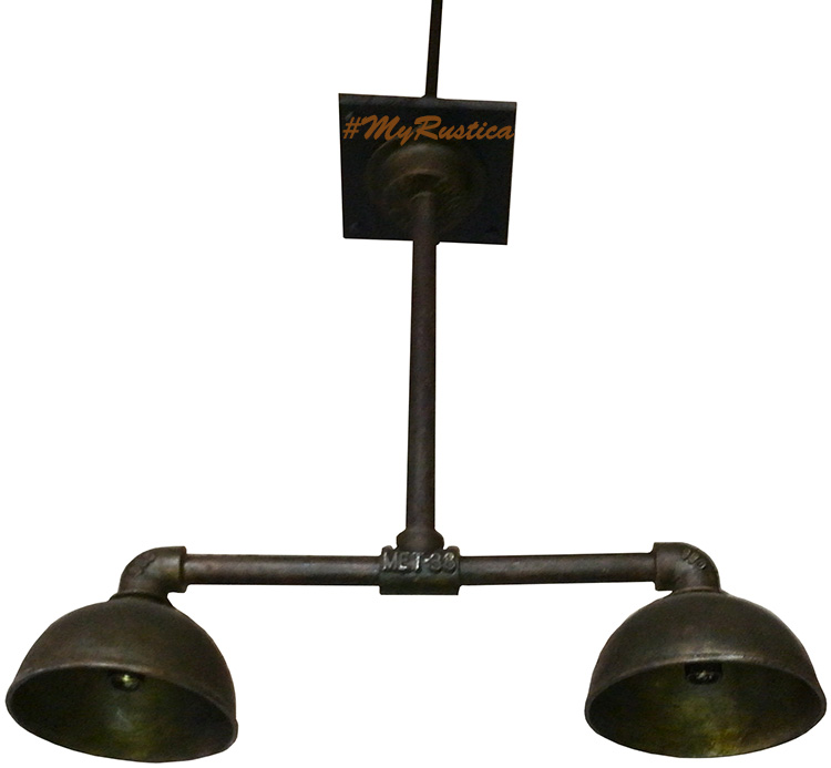bronze cast lamp in industrial style hanging ona ceiling of a loft apartment