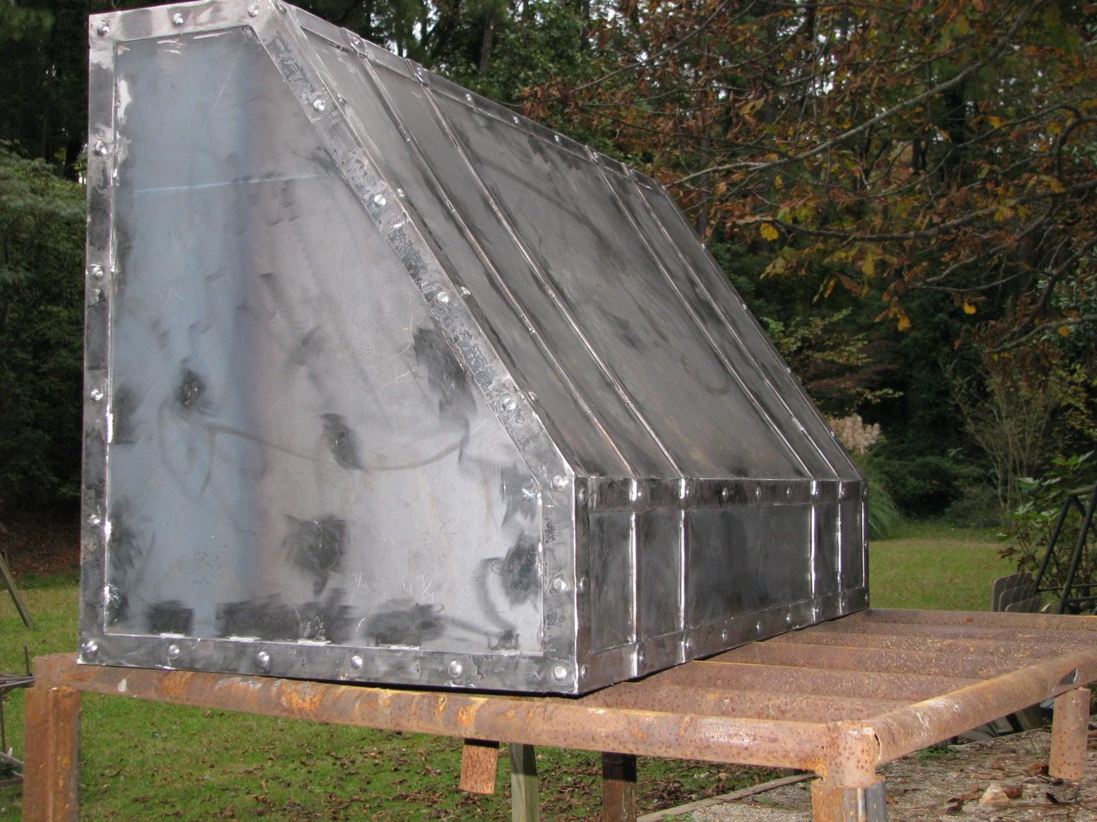 iron kitchen range hood