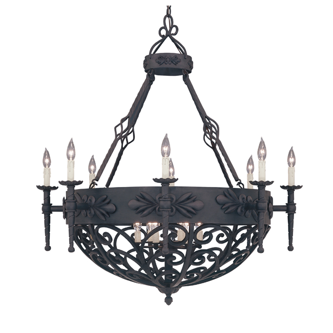 rustic chandelier fixture