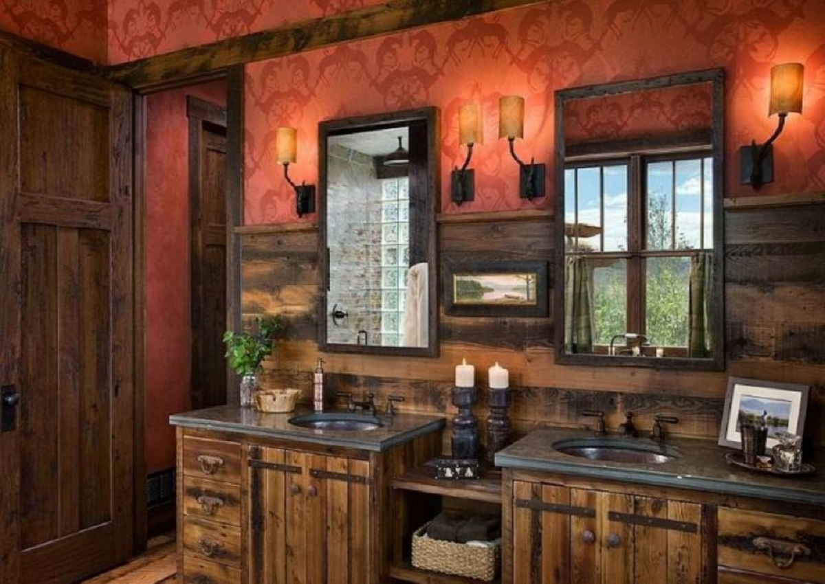 rustic faucets for a kitchen and bathroom
