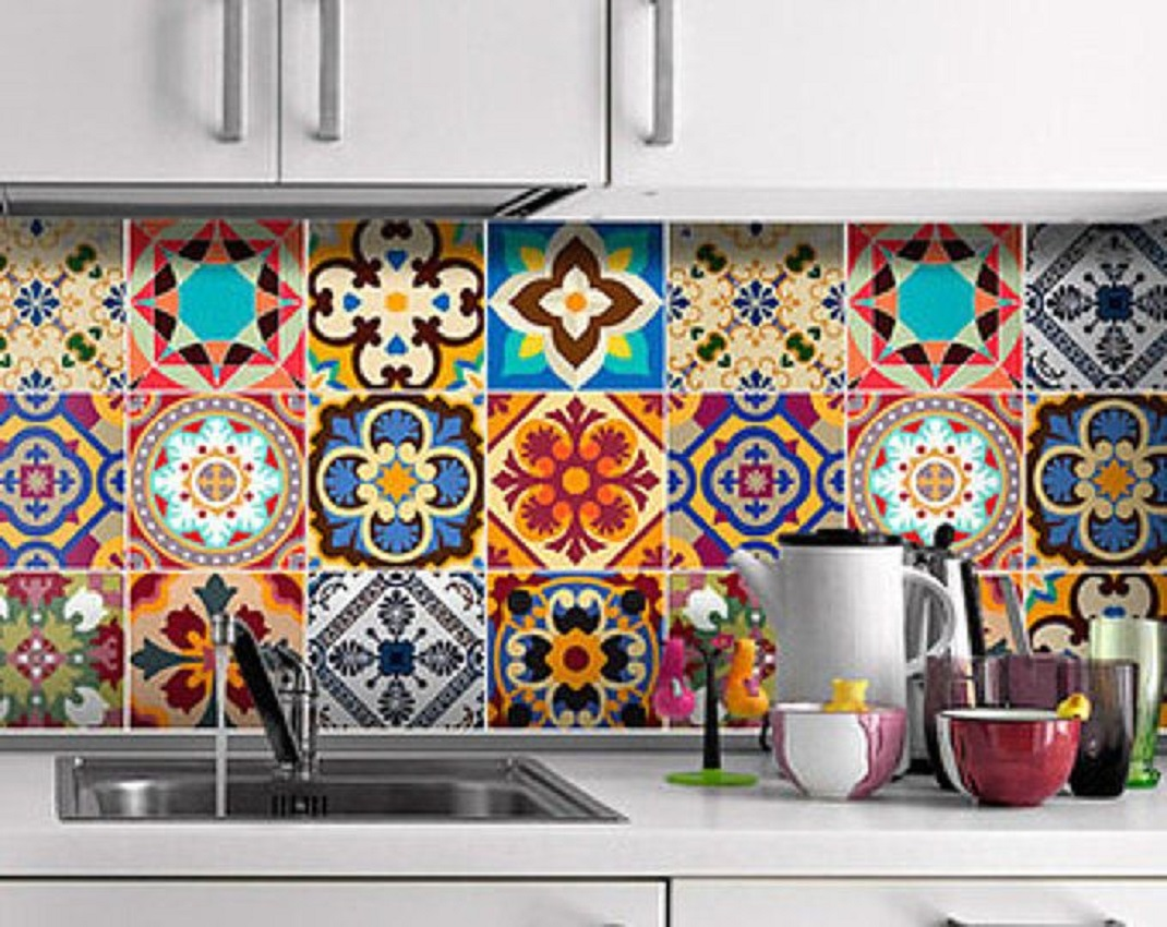 painted talavera tiles from Mexico