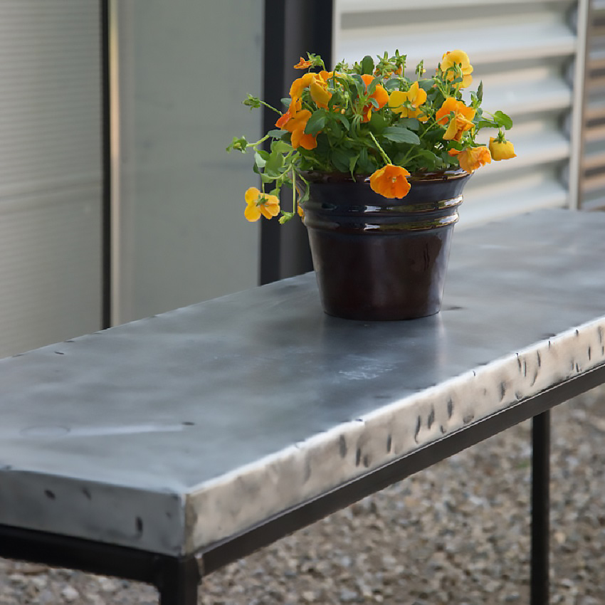 Hammered Zinc Table Top Rustica House