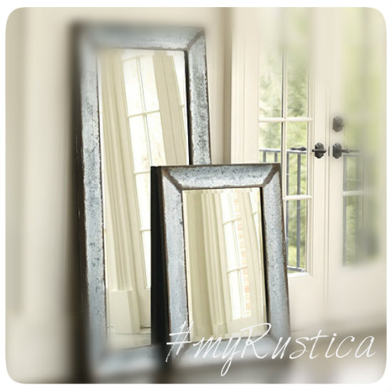 zinc mirrors with smoth and hammered frames