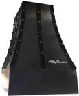 iron metal range hood side view