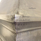 zinc metal range hood detail