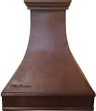 high ceiling kitchen copper range hood