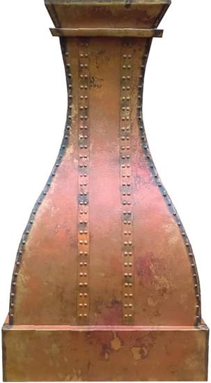 hammered copper vent hood