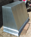 large zinc range hood on sale