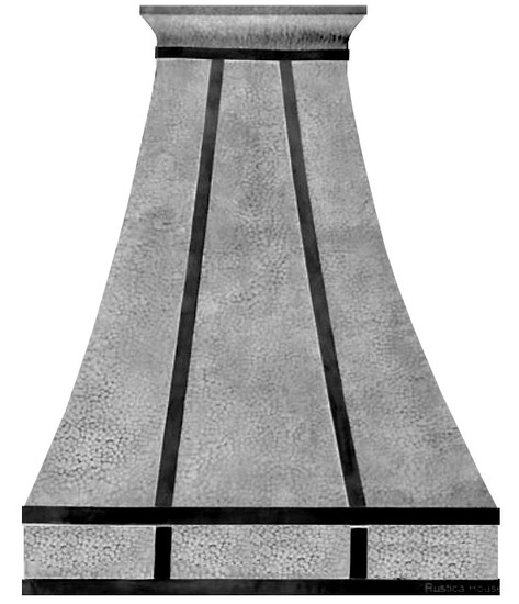 handcrafted metal range hood