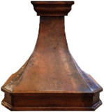 copper metal range hood