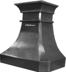 handcrafted zinc range hood