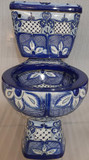 Mexican colonial blue toilet