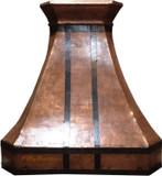 handcrafted copper metal range hood