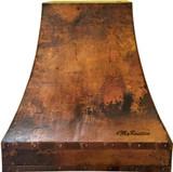 copper metal vent hood