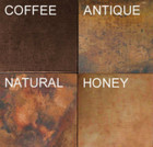high ceiling rustic copper range hood patina