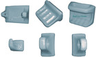 blue toilet bath accesories