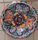 Hand Painted Mexican Vessel Sink on Sale