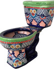 fabricated mexican artistic toilet
