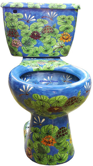 mexican colorful toilet