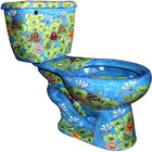 hand made mexican colorful toilet