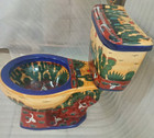 mexican painted toilet