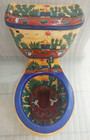 hand painted toilet from Mexico