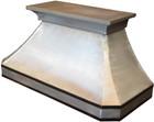zinc metal kitchen hood side view