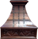 decorative copper kitchen hood