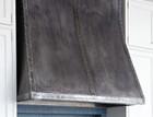 Made to order dark zinc range hood