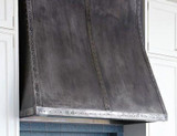 Made to order dark zinc range hood