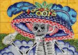 tile mural mexican catrina
